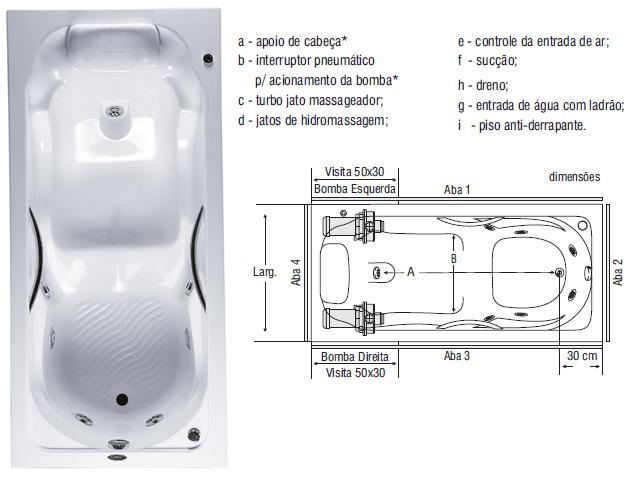 Hidromassagem Banheira BH Banheira MG Hidro Albacete -> Tamanho Minimo Para Banheiro Com Banheira