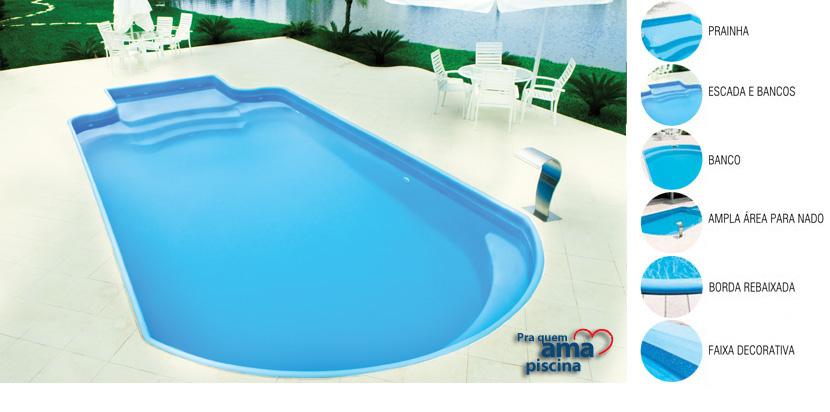 Piscinas de fibra for Fotos de modelos en piscinas